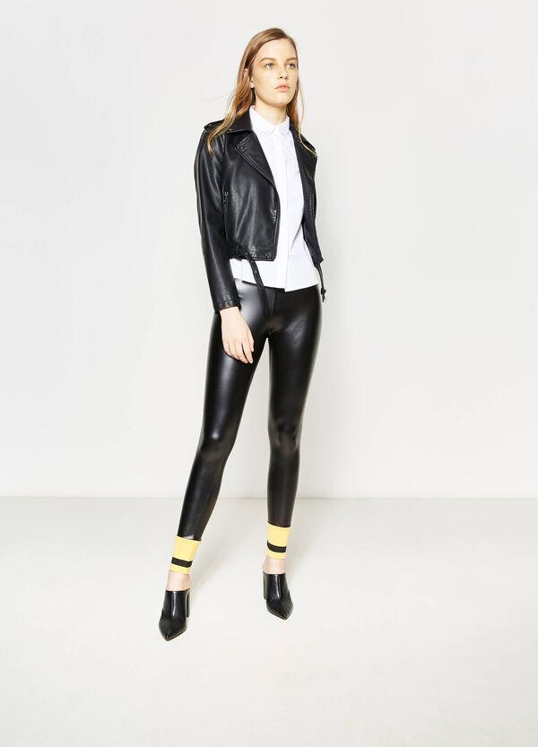 Shiny stretch leggings | OVS