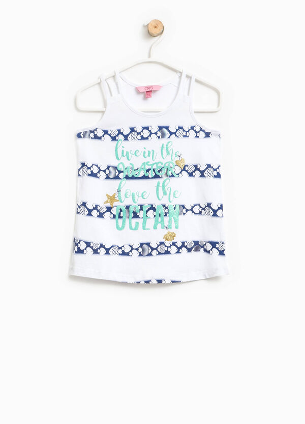 Printed cotton top | OVS