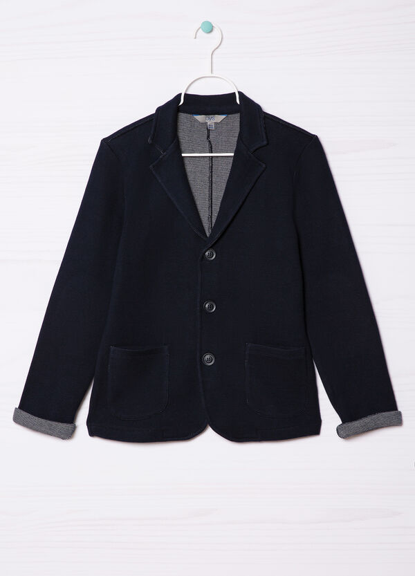 Jacket in 100% cotton with lapels. | OVS