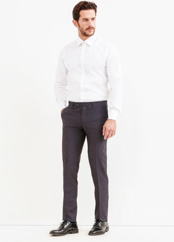 Pantalón de vestir slim fit en viscosa elástica   OVS