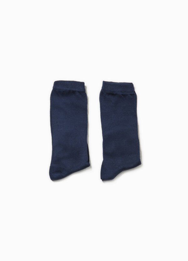 Two-pair pack long socks in cotton | OVS
