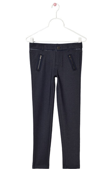 Stretch trousers with zip, Grey, hi-res