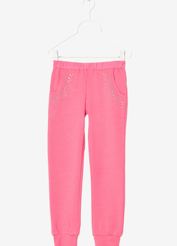 Pantaloni stretch con strass | OVS