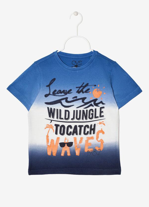 T-shirt con stampa effetto degradé | OVS