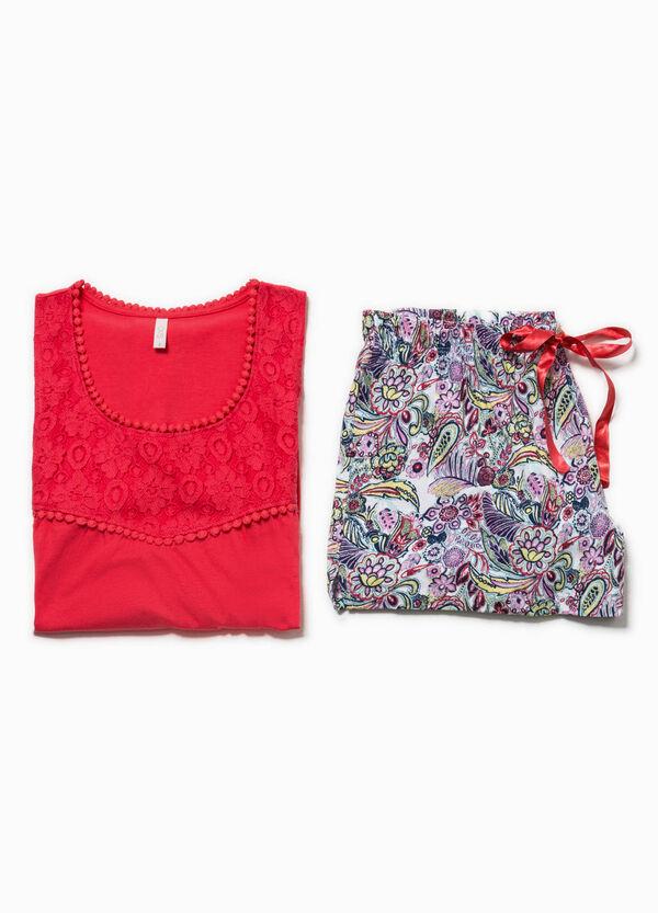 Pijama con estampado y encaje | OVS
