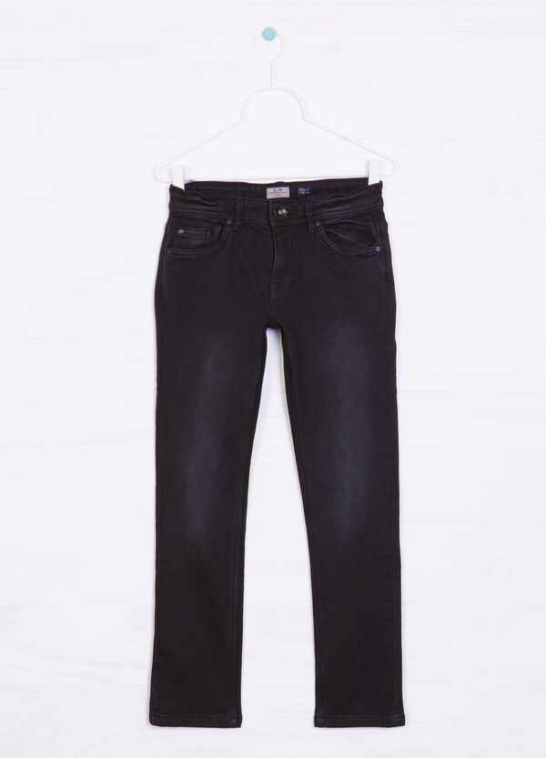 Jeans stretch effetto delavé | OVS