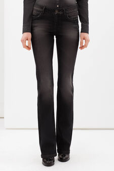 Stretch flared jeans, Medium Wash, hi-res
