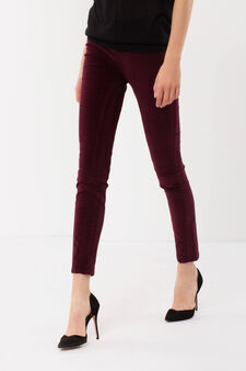 Cotton trousers, Claret Red, hi-res