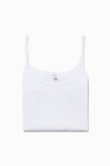100% cotton undervest, White, hi-res