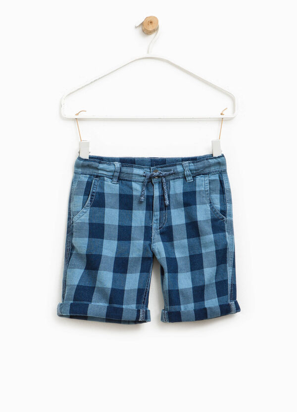 Check Bermuda shorts in cotton | OVS