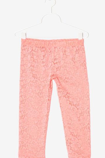 Cut-out  lace  leggings, Neon Pink, hi-res