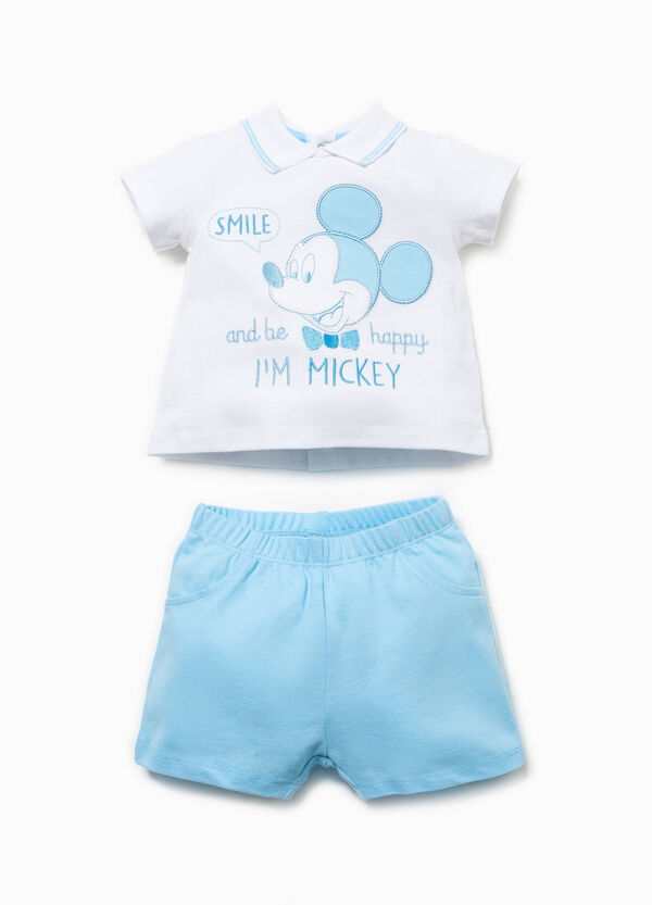 Outfit with embroidery and Mickey Mouse patch | OVS
