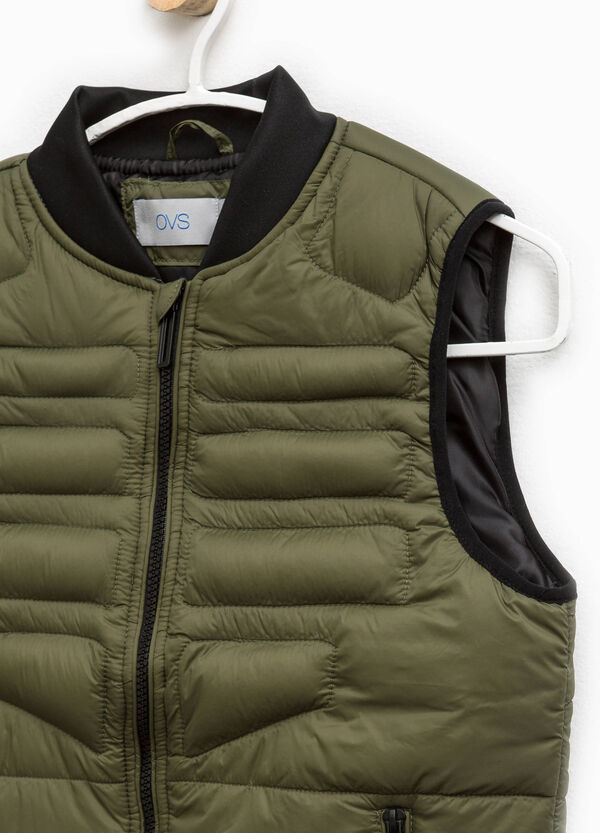 Padded gilet with zip and pockets | OVS