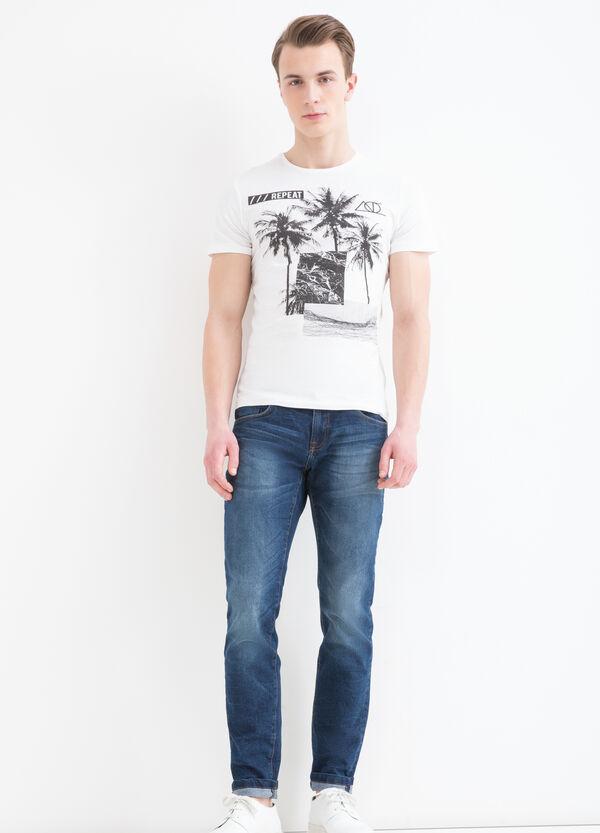 T-shirt girocollo cotone stampa | OVS