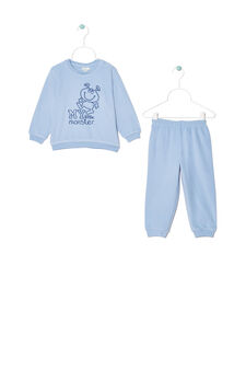 Printed pyjamas, Light Blue, hi-res