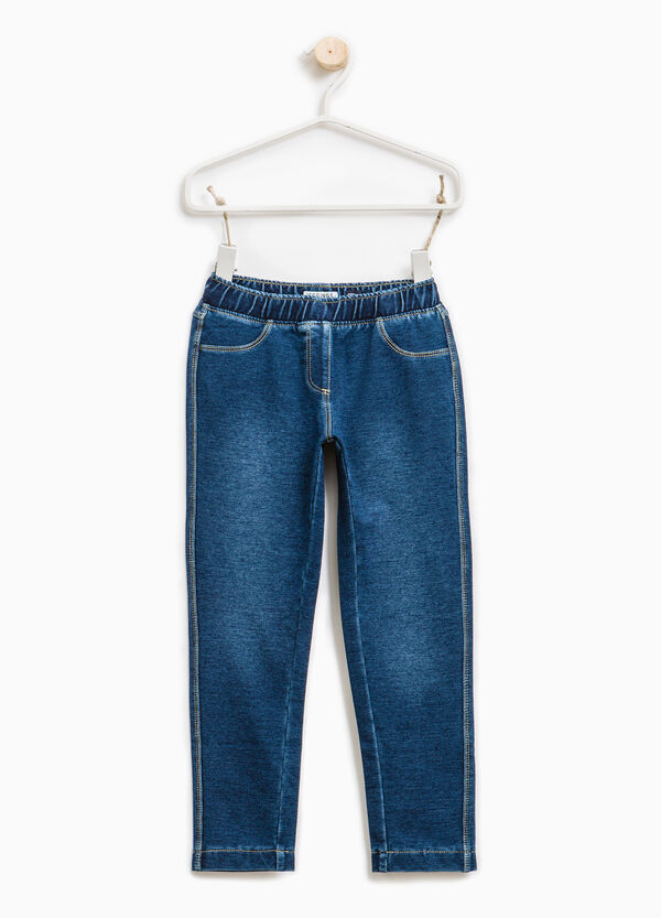 Jeans stretch con scoloriture | OVS