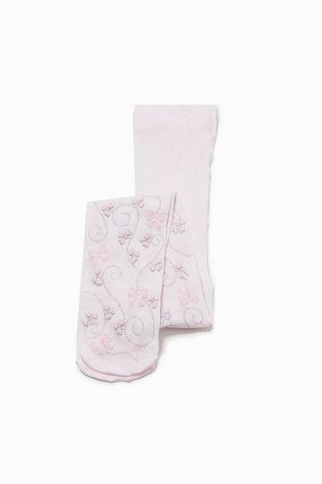 Glitter pattern tights, Pink, hi-res