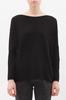 Silk-cashmere blend pullover., Black, hi-res