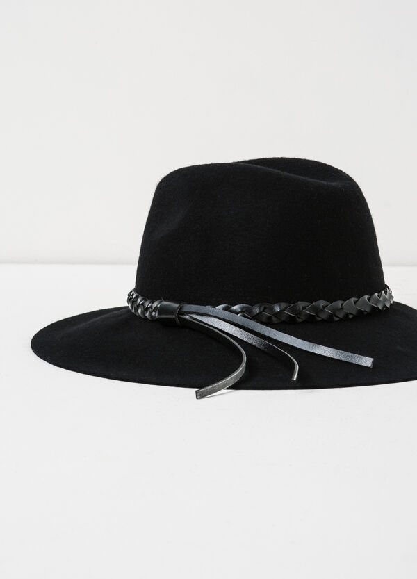 Hat with woven band. | OVS