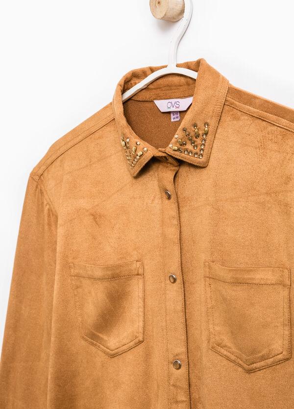 Camicia stretch scamosciata | OVS