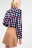 Blouse in 100% viscose with check pattern, Blue/Red, hi-res