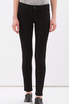 Stretch cotton trousers., Black, hi-res