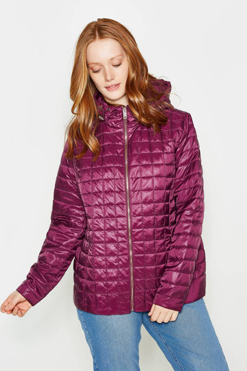 Curvy quilted down jacket, Royal Purple, hi-res