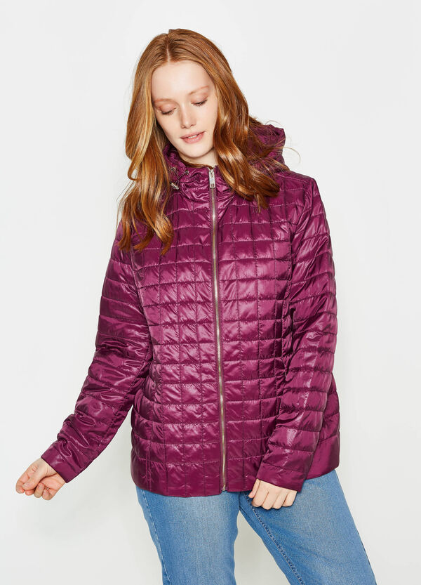Curvy quilted down jacket | OVS