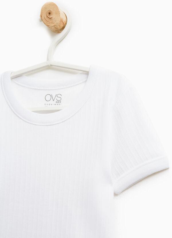 T-shirt intima costina tinta unita | OVS