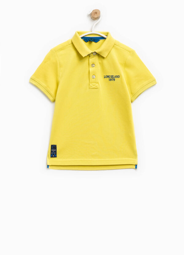 100% cotton polo shirt with patch and embroidery | OVS