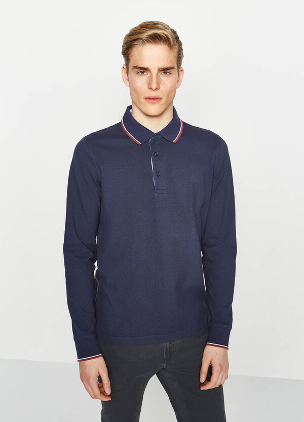 Polo shirt in 100% cotton with contrasting edging | OVS