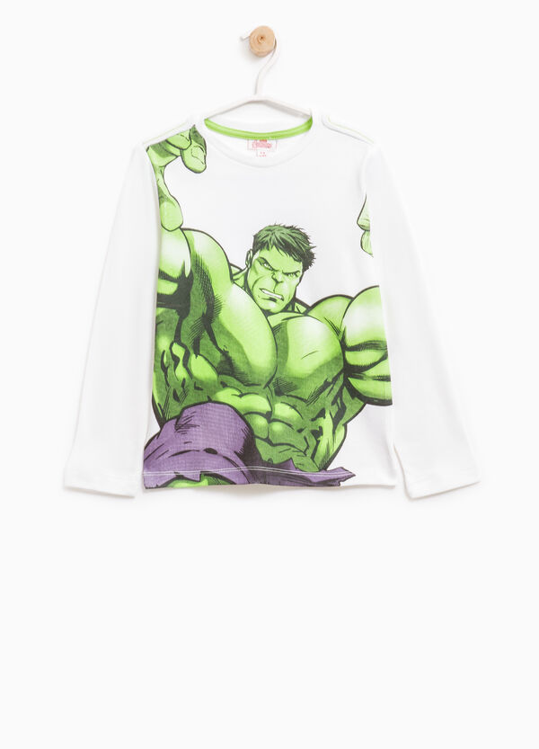 Cotton T-shirt with Hulk print | OVS