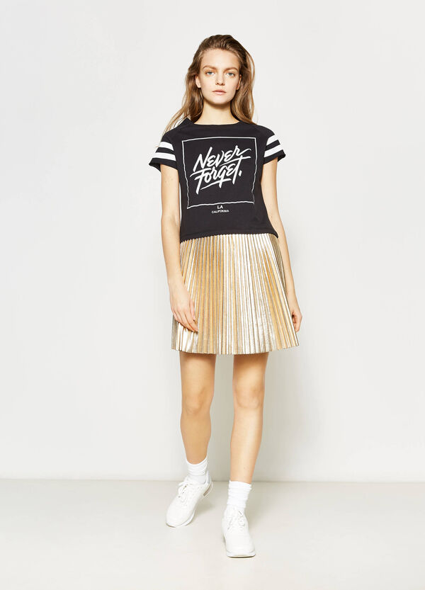 Shiny stretch pleated skirt | OVS