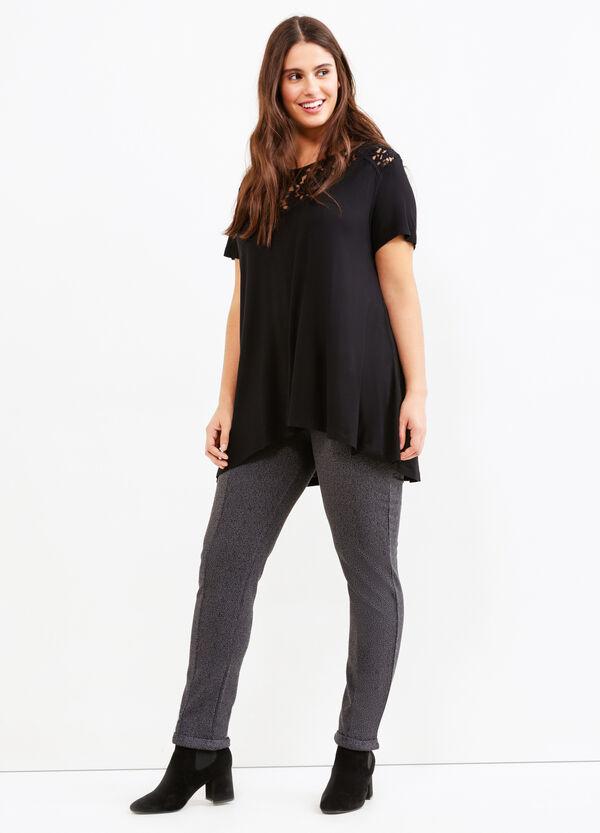 Leggings stretch con risvolto Curvy | OVS