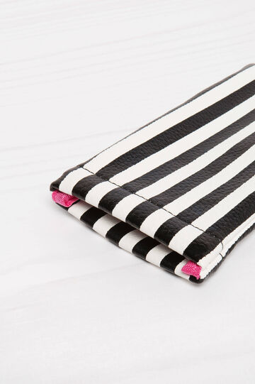 Striped glasses pouch, White, hi-res