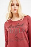 Curvy round-neck T-shirt, Red, hi-res
