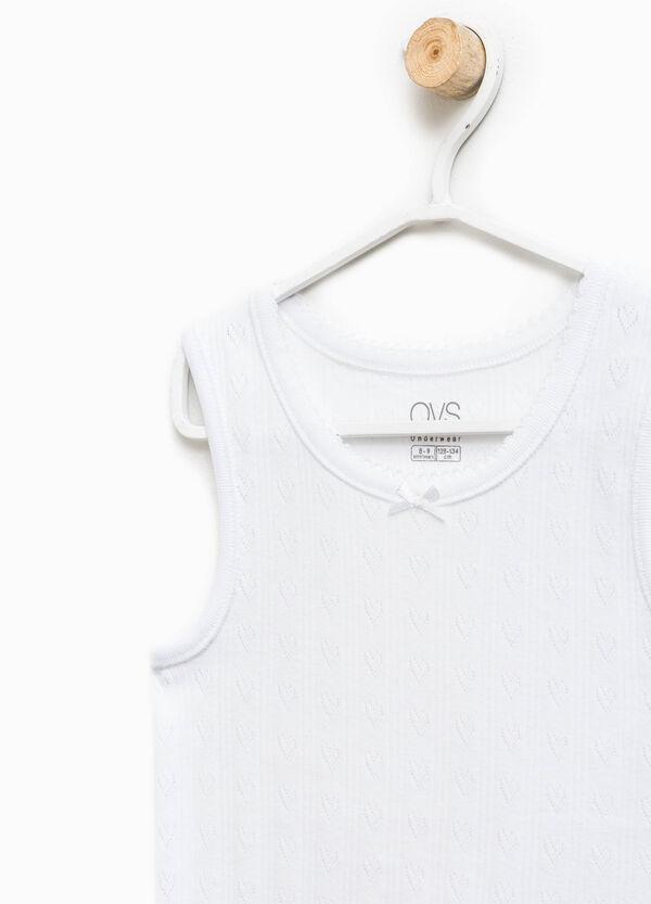Camiseta de tirantes interior con trama de corazones | OVS