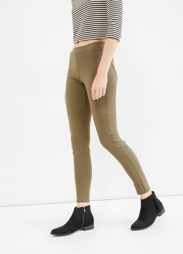 Stretch rayon jeggings | OVS