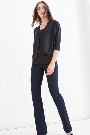 Solid colour viscose blend cardigan