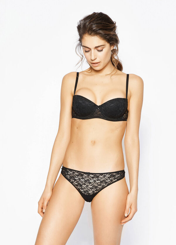 Stretch lace thong | OVS