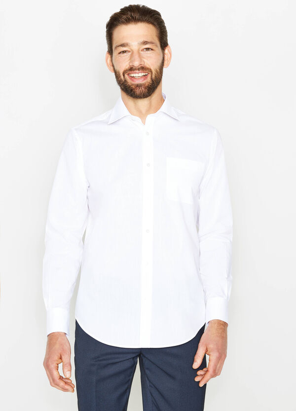 Regular-fit, formal shirt with bluff collar | OVS