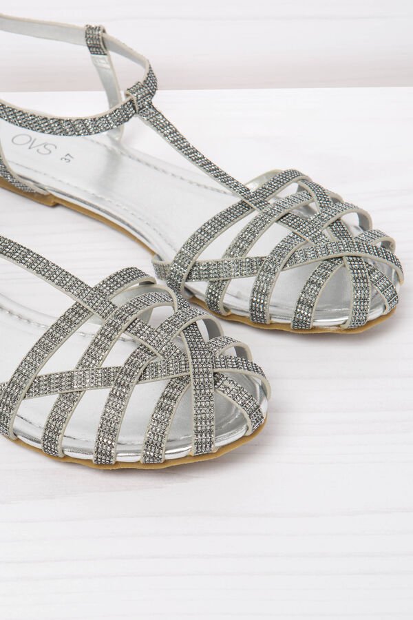 Solid colour sandals with glitter | OVS