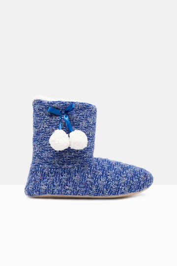 Slipper boot with pompoms, Cornflower Blue, hi-res