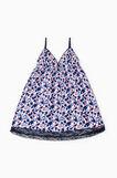 Floral patterned sleeveless nightshirt, Cream White, hi-res