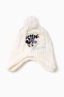 Beanie cap with Minnie Mouse embroidery, White, hi-res