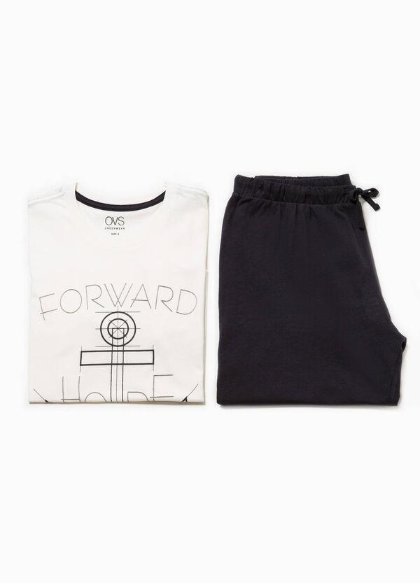 Pijama de manga corta con estampado | OVS