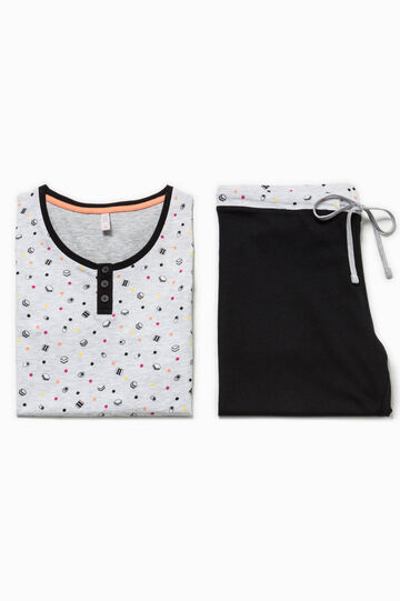 Patterned cotton pyjamas