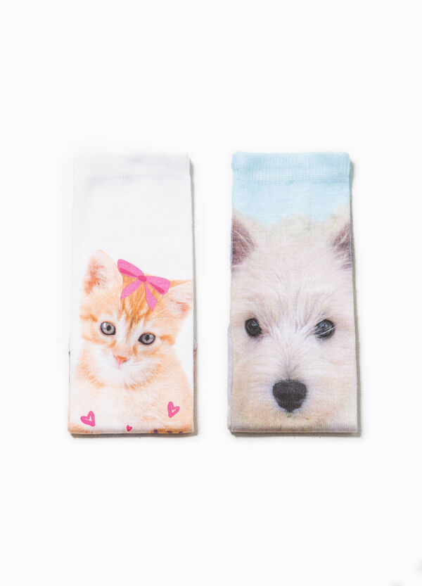 Two-pack short patterned socks | OVS
