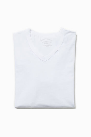 T-shirt intima stretch scollo a V, Bianco ottico, hi-res