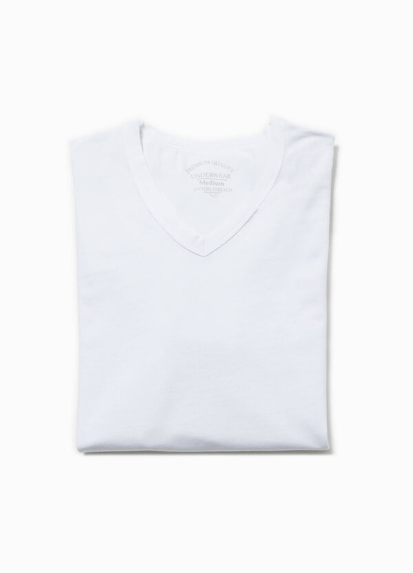 V-neck stretch undershirt | OVS